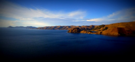 Beautiful Lake Titicaca and Island of the Sun, spiritual center of the Incas
