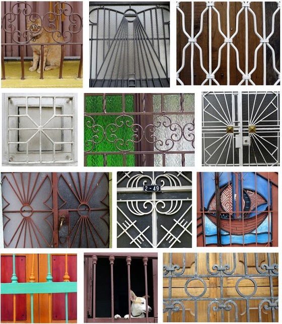 The intricate railwork on the windows and doors of Cali's San Antonio neighborhood