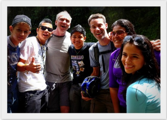 Paul's #1 People: The group of young Ecuadorian hikers we met