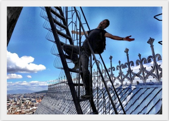 Peter's #1 High: The basilica's bell towers in Quito