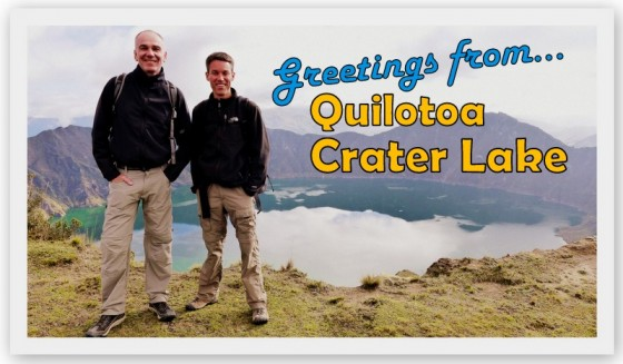 Paul and Peter above Quilotoa Crater Lake