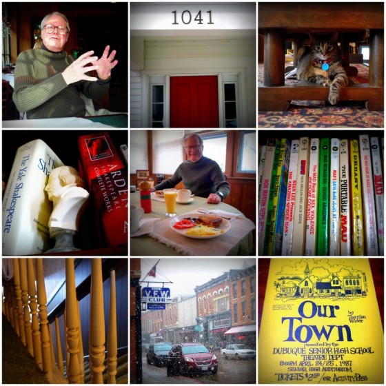 Scenes from a visit to my childhood home in Dubuque, Iowa