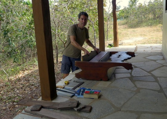 WWOOF Woodworking 101: Repairing a bench at Canto Guardian farm