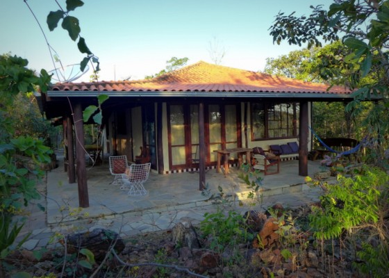 The main house at Canto Guardian in Pirenópolis, Brazil