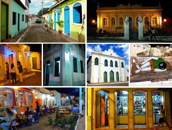 Scenes of picturesque Lençois town. Colorful and colonial, it's a great place to be based while exploring the surrounding Chapada Diamantina national park.