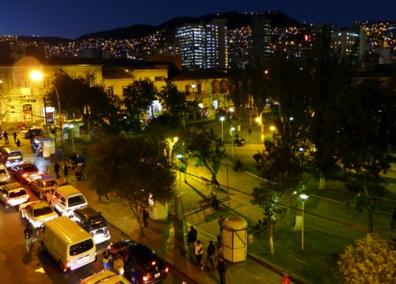 Luminescent La Paz at night