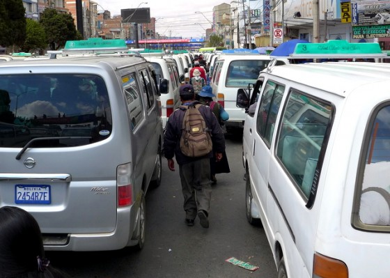 Road Race: Pedestrians usually win in congested La Paz
